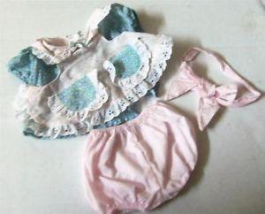 Vintage CPK Cabbage Patch Kids Furskins Toy Bear Plush Doll Outfit Dress Set