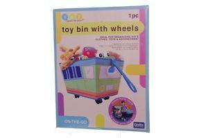 Delta Childrens Kids Baby Toy Bin with Wheels Portable Organization Bus New