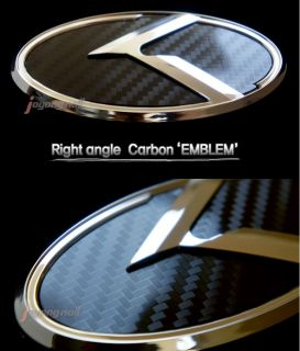 New Carbon K Logo Emblem Badge 2pc Set Front Grill Rear Trunk Fit Kia Optima