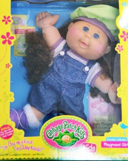 Cabbage Patch Kids Doll Kylie Morgan Brown Hair Blue Eyes Freckles September 15