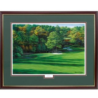 Augusta National 11th Hole White Dogwood Framed Golf Print from Brookstone