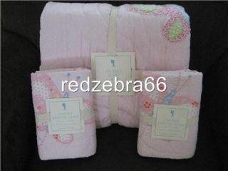 Pottery Barn Kids Pink Lindsey Butterfly Full Queen Quilt 2 Standard Shams Set