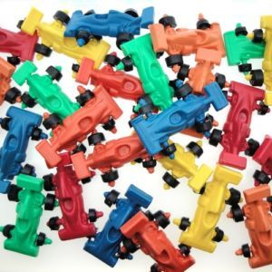 20 New Mix Racing Car Plastic Vintage Toy Solid Color Formula Cake Topper Kid