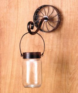 New Country Chic Rustic Antique Look Mason Jar Floor or Table Lamp Wall Sconce