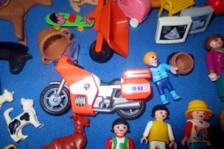 Playmobil Big Lot People from Special Sets Bicycles Horses Goats Much More