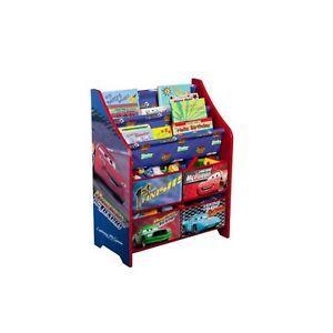 Disney Cars Kids Room Book Shelf Toys Bin Quality Organizer Storage
