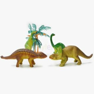 12pcs Assorted Mini Dinosaur Set Toys Model Home Decor for Kids Preschool Toy
