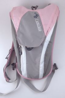 Pink Gray Camelbak Backpack Hydration Bladder Running Hiking Camping