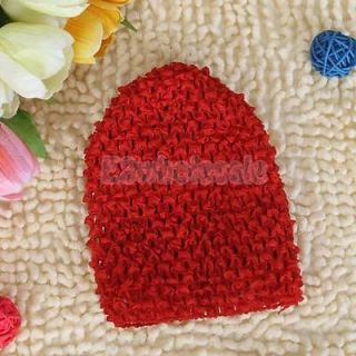 4X Red Color Baby Kids Infants Cute Crochet Versatile Beanie Hat Cap