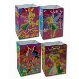 Lot 12 Disney Fairies Tinkerbell Kids Party Favors Goodie Small Candy Gift Bags
