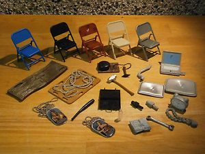 WWE Wrestling Accessories for Figures Lots to Choose from Chairs Weapons