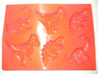 Moul Flex Silicone Smiling Dinosaur Baking Mold Personal Cake Size Pan Kid Party