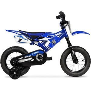 "Yamaha Moto 12"" Childrens Bicycle Kids Toys Dirt Bike Training Wheels Outdoor"