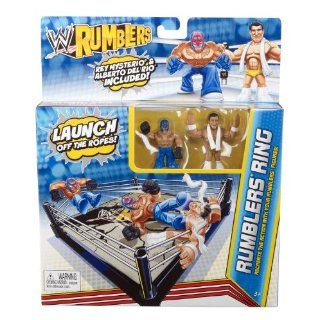 WWE Rumblers Ring Rey Mysterio and Alberto Del Rio Playset