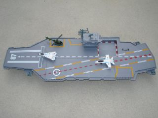 """Toy Aircraft Carrier Huge 30"""" Navy Warship Planes Helicopter Sounds"""