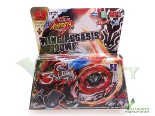 Rapidity 4D Top Metal Fusion Beyblade BB121A Wing Pegasis Launcher Set