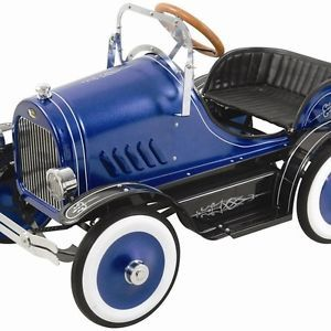 New Kalee Deluxe Roadster Pedal Car Blue Ride on Toys Kids Girls