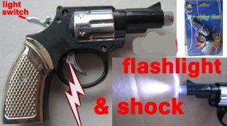 Electric Shock Shocking Flashlight Pistol Handgun Prank Joke Gag Trick Toy New