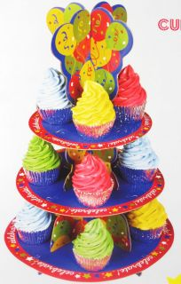 Celebration or Birthday Disposable Cupcake Stand Tree Holder New