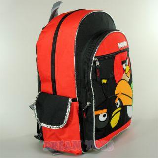 "Rovio Angry Birds Fuzzy 3 Birds 16"" Large Backpack Book Bag Boys Girls Kids"