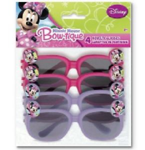 Disney Minnie Mouse 4 Novelty Glasses Birthday Party Supplies Party Favors