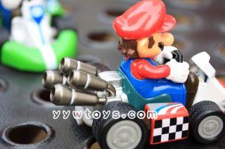 2pcs Super Mario Brothers Luigi Kart Pull Back Car 4 inches Figure Toys