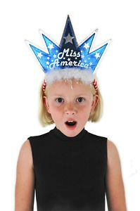 Miss America Child Kids Adult Beauty Queen Statue of Liberty Headband Hat New