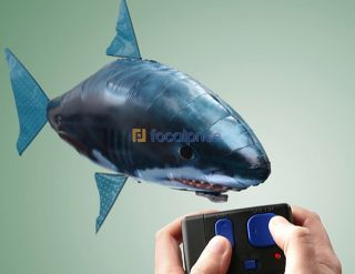 Inflatable Air Swimmer Blimp Balloon Toy Remote Controlled RC Large Flying Shark