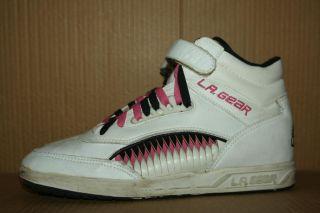 80's Vintage L A Gear High Top Sneaker Hi Shoe Shark Fin Pump 8 5 OG