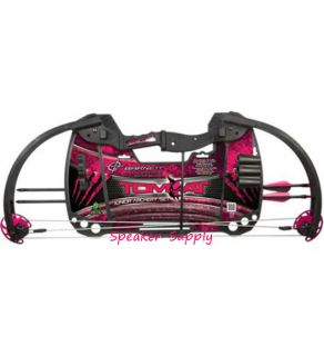 New Barnett Crossbows Tomcat in Pink Girls Junior Archery Compound Bow Set 4H