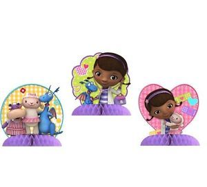 Disney Doc McStuffins 3 Mini Centerpiece Decorations Birthday Party Supplies