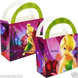 Disney Tinker Bell Fairies Tinkerbell Treat Purses Boxes Party Favors 4ct
