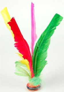 Chinese Jianzi Multicolor Feather Kicker Toy Hack Sack Kids Party Game Gift New