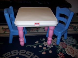Little Tikes Tykes Table w Drawers 2 Chairs Art Craft