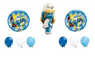 The Smurfs 2 Smurfette Girl Shaped Birthday Party Mylar Foil Balloon Set