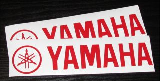 "Yamaha FZR FJ Forks Logo Gloss Red 8"" Vinyl Sticker Decal Limited Pricing"