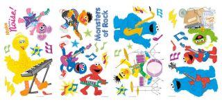 36 Sesame Street Rock Roll Elmo Wall Decals Kids Baby Nursery Stickers Decor