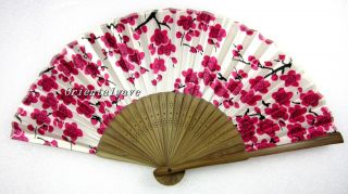 Chinese Japanese Folding Silk Hand Bamboo Asian Pocket Fan with Leopard Spots