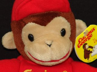 New Gund Plush Curious George Monkey Red Shirt Lovey Plush Stuffed Animal Toy