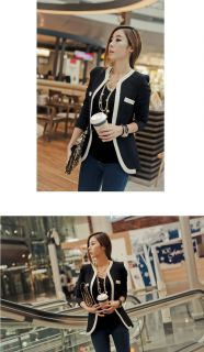 New Women's Autumn Fashion Lady Casual Collarless Slim Suit Blazer Coat Jacket
