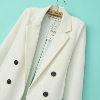 New Fashion Casual Women's Lapel Solid Slim Suit Shaped Blazer Coat Jacket SML