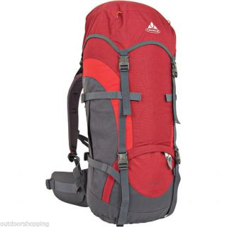 Vaude Red Sawtooth 65 10 Backpack Capacity for Weekend or Week Long Trips