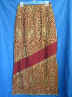 Free People Anthropologie Tapestry Skirt Paisley Sz 7