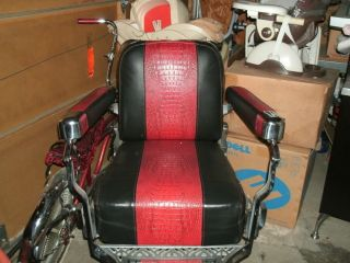 Koken Barber Chair 1950's re Upholstered Feel Free to Make An OFFER