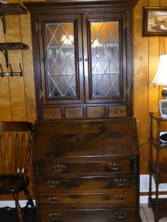 Bennington Pine Furniture Bennington Pine Secretary Desk Cabinet Early American Colonial Style