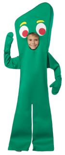 Kids Gumby Open Face TV Cartoon Character Costume