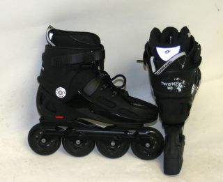 Rollerblade Twister 80 Mens Urban Inline Skates Size 8 5 Black Lightly Used 2013