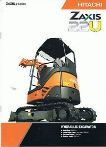 Hitachi Zaxis 22U Mini Excavator Brochure 2008s