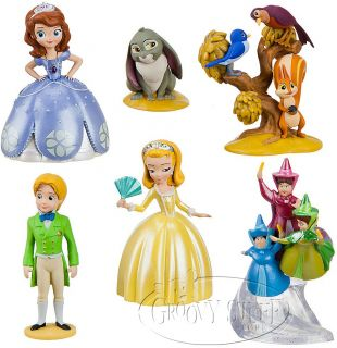 Disney Junior Sofia The First Playset Toy Cake Topper Amber Fairies Sophia New
