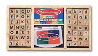 Alphabet Wooden Stamp Set 61 PC Kit Melissa and Doug